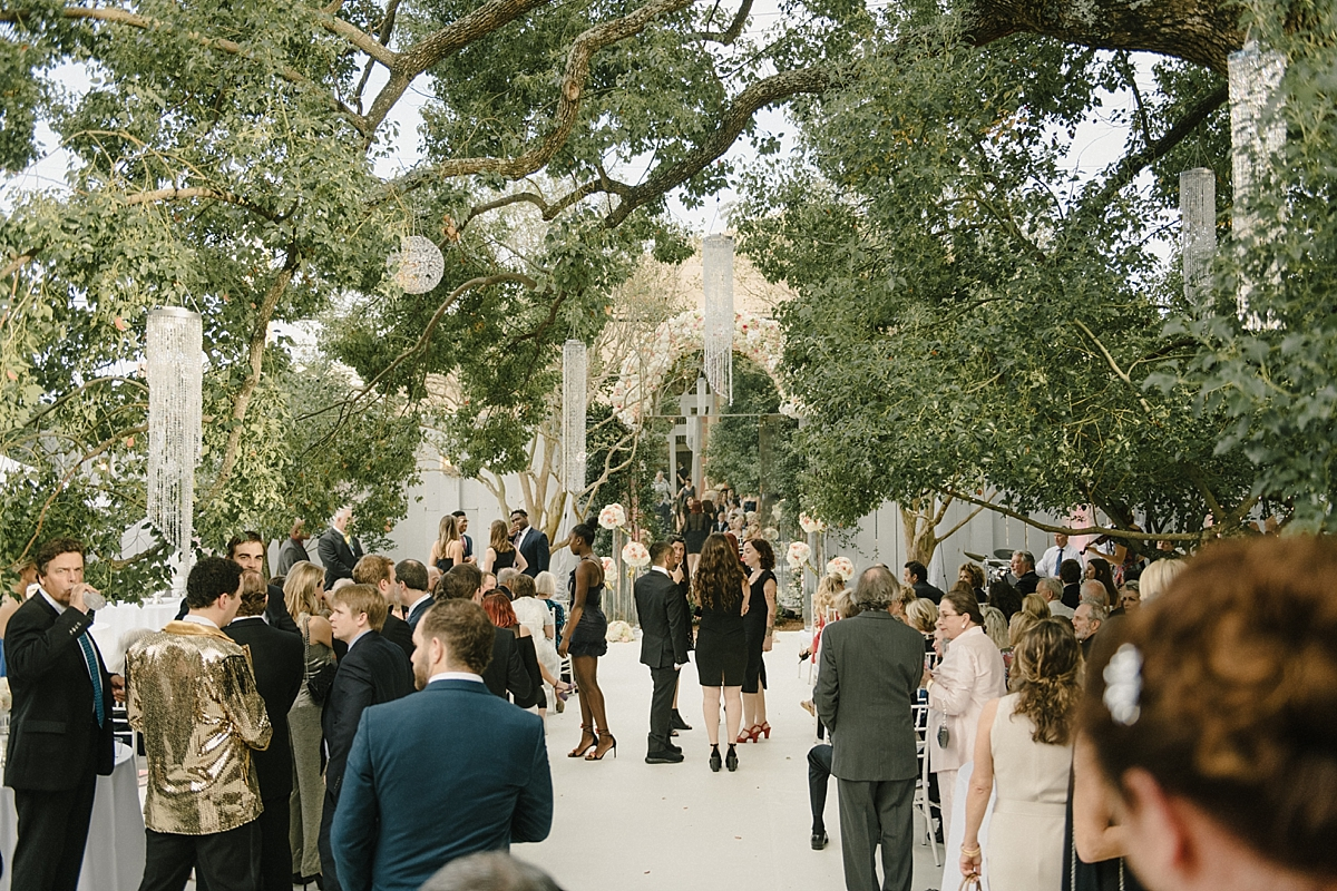 Wedding reception space at Audubon Park in New Orleans