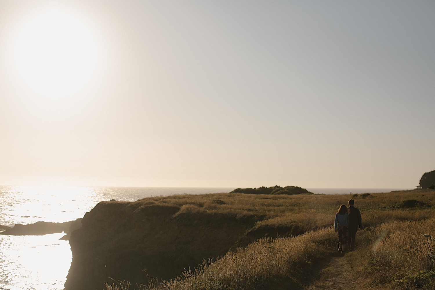 The most stunning sunset for the most perfect mendocino engagement session.